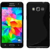 Silikon Hülle Galaxy Grand Prime S-Style schwarz