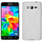 Silikon Hülle Galaxy Grand Prime X-Style weiß + 2 Schutzfolien