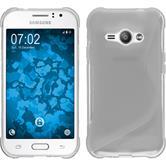 Silikon Hülle Galaxy J1 ACE S-Style clear + 2 Schutzfolien