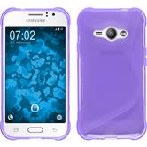 Silikon Hülle Galaxy J1 ACE S-Style lila + 2 Schutzfolien