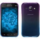 Silikon Hülle Galaxy J1 (2015 - J100) Ombrè Design:04 + 2 Schutzfolien