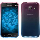 Silikon Hülle Galaxy J1 (2015 - J100) Ombrè Design:06 + 2 Schutzfolien