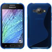 Silikonhülle für Samsung Galaxy J1 (J100) S-Style blau