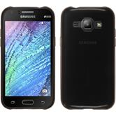 Silikon Hülle Galaxy J1 (J100 2015) transparent schwarz
