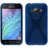 Silikon Hülle Galaxy J1 (J100 2015) X-Style blau
