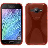 Silikon Hülle Galaxy J1 (J100 2015) X-Style rot