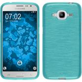 Silikon Hülle Galaxy J2 (2016) (J210) brushed blau Case