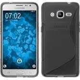 Silikon Hülle Galaxy J2 (2016) (J210) S-Style grau Case