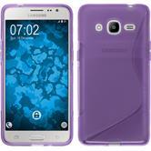 Silikonhülle für Samsung Galaxy J2 (2016) S-Style lila