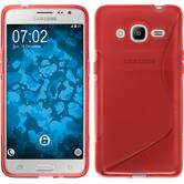 Silikon Hülle Galaxy J2 (2016) (J210) S-Style rot Case