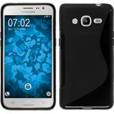 Silikon Hülle Galaxy J2 (2016) (J210) S-Style schwarz Case