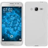 Silikon Hülle Galaxy J2 (2016) (J210) S-Style weiß Case