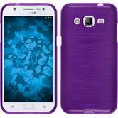 Silikonhülle für Samsung Galaxy J2 brushed lila