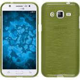 Silikon Hülle Galaxy J2 brushed pastellgrün Case