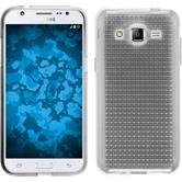 Silikon Hülle Galaxy J2 Iced clear + 2 Schutzfolien