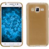 Silikon Hülle Galaxy J2 Iced gold + 2 Schutzfolien