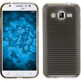 Silikon Hülle Galaxy J2 Iced grau + 2 Schutzfolien