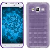 Silikon Hülle Galaxy J2 Iced lila + 2 Schutzfolien