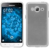 Silikon Hülle Galaxy J3 (2016) Iced clear + 2 Schutzfolien