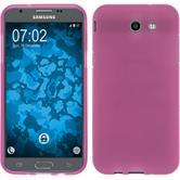 Silikon Hülle Galaxy J3 Emerge matt pink Case