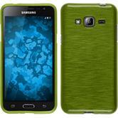 Silikon Hülle Galaxy J3 brushed pastellgrün + 2 Schutzfolien