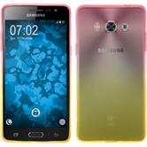 Silikon Hülle Galaxy J3 Pro Ombrè Design:01 + 2 Schutzfolien
