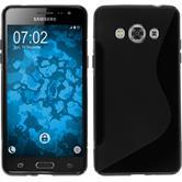 Silikon Hülle Galaxy J3 Pro S-Style schwarz