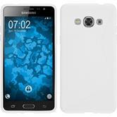 Silikon Hülle Galaxy J3 Pro S-Style weiß + 2 Schutzfolien