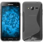 Silikon Hülle Galaxy J3 S-Style clear + 2 Schutzfolien