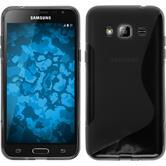 Silikon Hülle Galaxy J3 S-Style grau