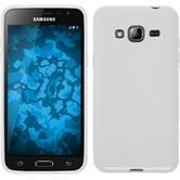Silikon Hülle Galaxy J3 S-Style weiß + 2 Schutzfolien