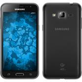 Silikon Hülle Galaxy J3 Slimcase grau + 2 Schutzfolien