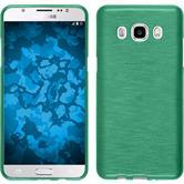 Silikon Hülle Galaxy J5 (2016) J510 brushed grün + 2 Schutzfolien