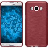 Silikon Hülle Galaxy J5 (2016) J510 brushed rosa + 2 Schutzfolien