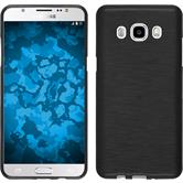 Silikonhülle für Samsung Galaxy J5 (2016) J510 brushed silber