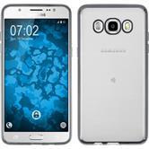 Silikon Hülle Galaxy J5 (2016) J510 Slim Fit grau + 2 Schutzfolien