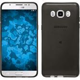 Silikon Hülle Galaxy J5 (2016) J510 transparent schwarz + 2 Schutzfolien