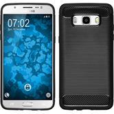 Silikon Hülle Galaxy J5 (2016) J510 Ultimate schwarz + 2 Schutzfolien