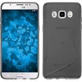 Silikon Hülle Galaxy J5 (2016) J510 S-Style grau + 2 Schutzfolien