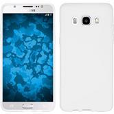 Silikon Hülle Galaxy J5 (2016) J510 S-Style weiß + 2 Schutzfolien