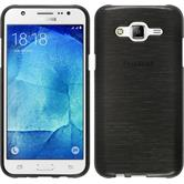 Silikonhülle für Samsung Galaxy J5 (J500) brushed silber