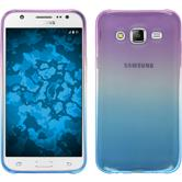 Silikon Hülle Galaxy J5 (2015 - J500) Ombrè Design:04 + 2 Schutzfolien