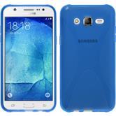 Silikon Hülle Galaxy J5 (J500) X-Style blau