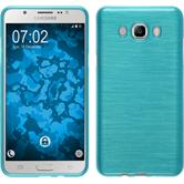 Silikon Hülle Galaxy J7 (2016) J710 brushed blau