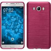 Silikon Hülle Galaxy J7 (2016) J710 brushed pink + 2 Schutzfolien