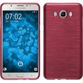 Silikon Hülle Galaxy J7 (2016) J710 brushed rosa + 2 Schutzfolien