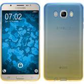 Silikon Hülle Galaxy J7 (2016) J710 Ombrè Design:02 + 2 Schutzfolien