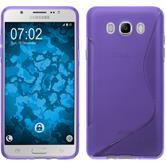 Silikon Hülle Galaxy J7 (2016) J710 S-Style lila + 2 Schutzfolien