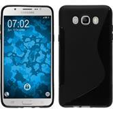 Silikon Hülle Galaxy J7 (2016) J710 S-Style schwarz
