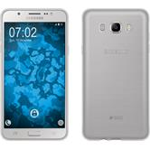 Silikon Hülle Galaxy J7 (2016) J710 transparent Crystal Clear + 2 Schutzfolien